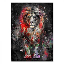 Tableau sur toile Lion moderne