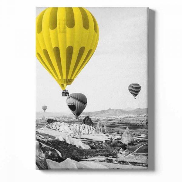 tableau sur toile montgolfières