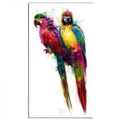 Tableau sur toile perroquet en couleur