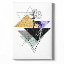 Tableau sur toile scandinave triangle