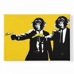 Tableau sur toile singe banane