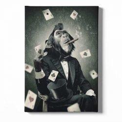 Tableau sur toile singe poker