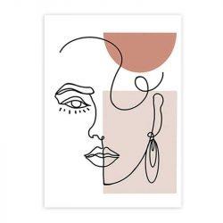 Tableau sur toile visage minimaliste