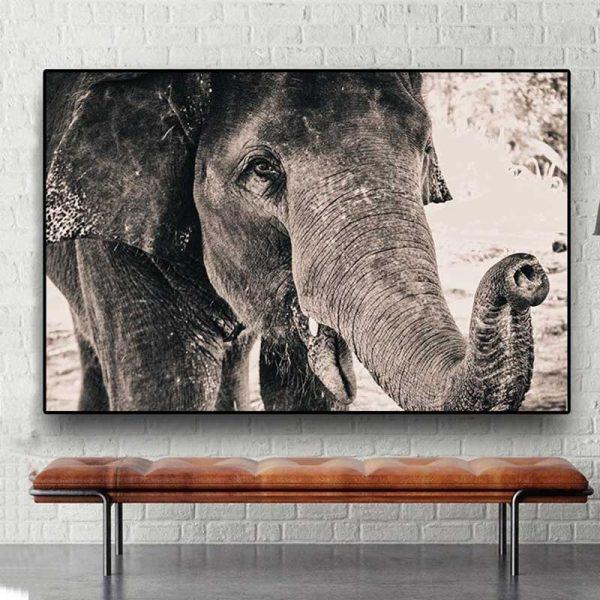 Tableau tête éléphant