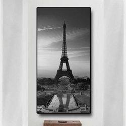 Tableau tour Eiffel noir et blanc