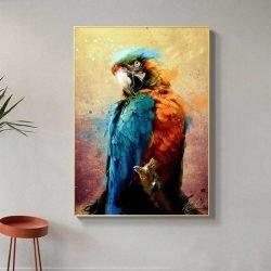 Tableau perroquet tropical