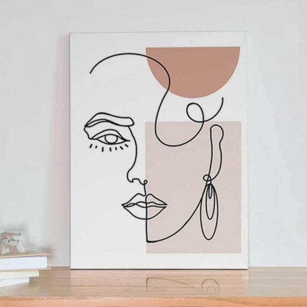 Tableau visage minimaliste