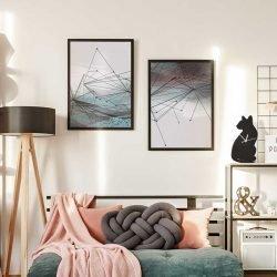 Tableaux forme géométrique abstrait et moderne