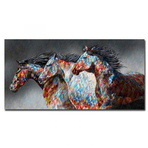 Toile chevaux couleur