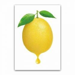 Toile citron jaune