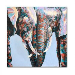 Tableau sur toile couple éléphant
