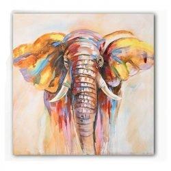 Tableau sur toile éléphant abstrait