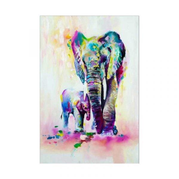 Tableau sur toile éléphant aquarelle