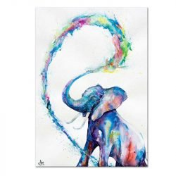 Toile éléphant bleu