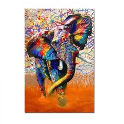Toile éléphant moderne