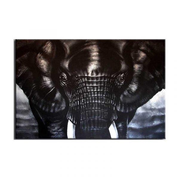 Tableau sur toile éléphant noir