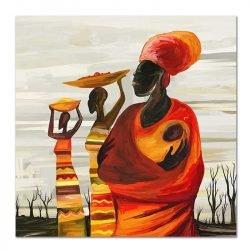 Toile femme africaine avec bébé