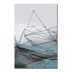 Toile forme géométrique abstraite