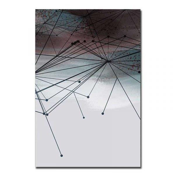 Toile géométrique moderne