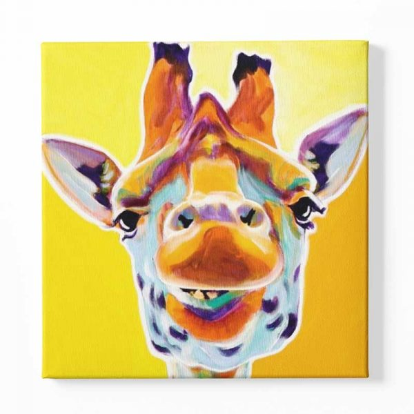 Tableau sur toile girafe jaune