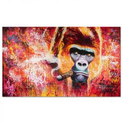 Toile gorille cigare
