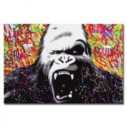 Toile gorille en colère