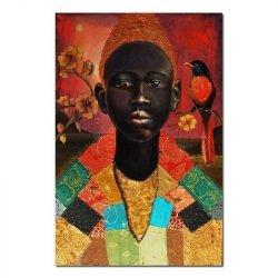 peinture sur toile homme africain