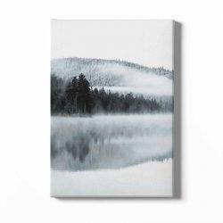 Toile lac et montagne