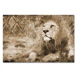 Tableau sur toile lion vintage