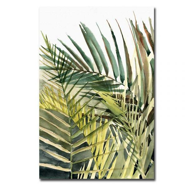Toile plantes tropicales
