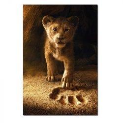 Toile roi lion
