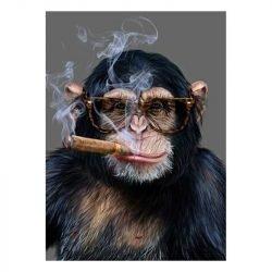 Toile singe qui fume