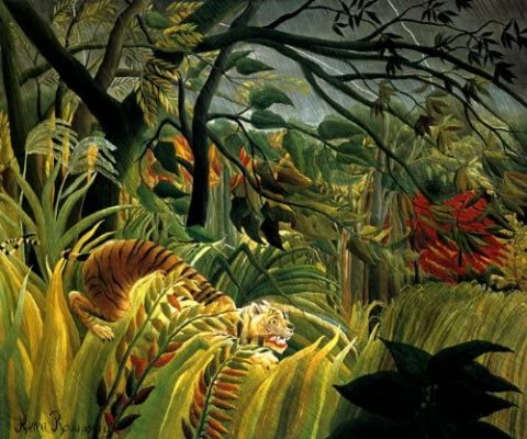 peinture tigre art