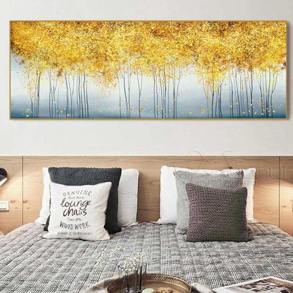 Tableau arbres dorés