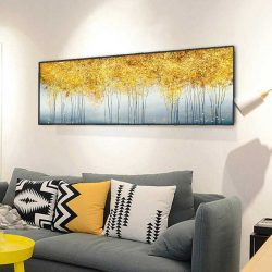 Tableau déco arbres dorés