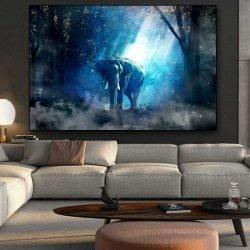 Tableau déco éléphant de nuit