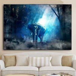 Tableau éléphant de nuit