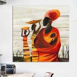 Tableau femme africaine avec bébé