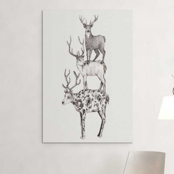 Tableau scandinave animaux