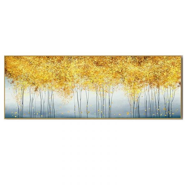 Tableau sur toile arbres dorés