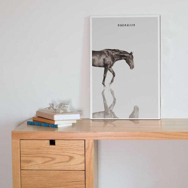 Affiche déco cheval