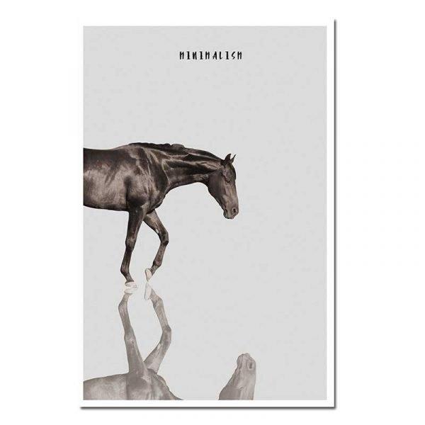 Affiche sur toile cheval