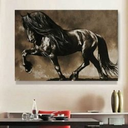 Peinture cheval noir