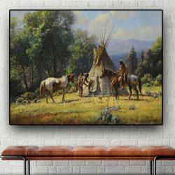 Peinture chevaux indiens
