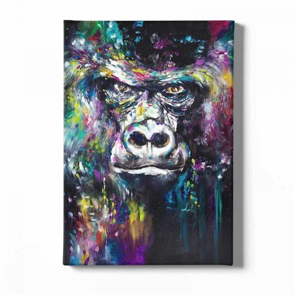Peinture sur toile tête de gorille