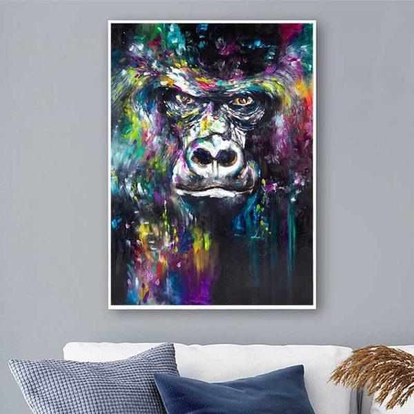 Peinture tête de gorille