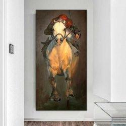 Tableau cheval de course