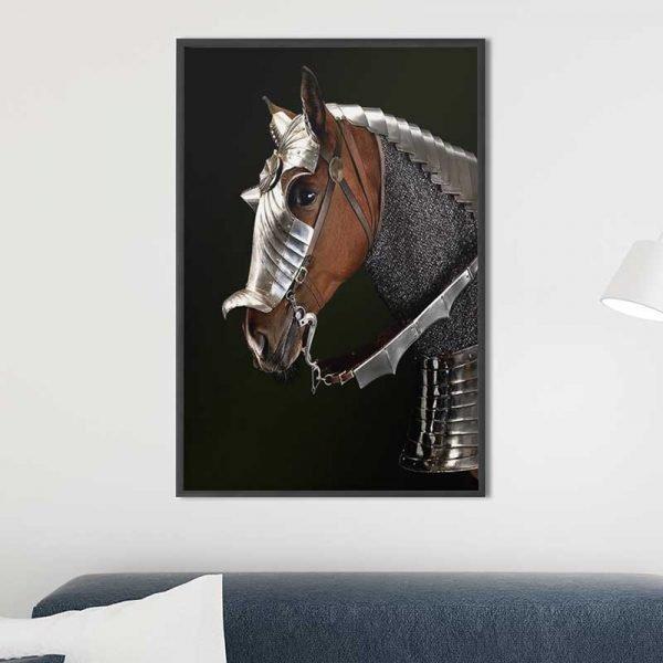 Tableau cheval guerre