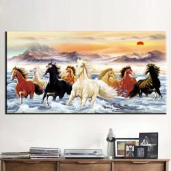 Tableau chevaux mer