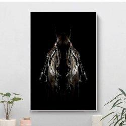 Tableau cheval sellé